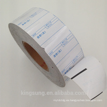 rollo de papel térmico sin papel para etiquetas con precio más bajo