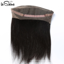 Indian Remy Temple Hair 100 Humanos Straight 360 Lace Frontal Piece Grado 9a cabello virgen