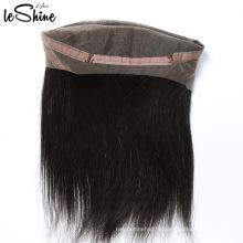 Indien Remy Temple Cheveux 100 Humain Droite 360 Dentelle Pièce Frontale Grade 9a Vierge Cheveux