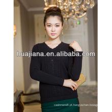 Suéter de caxemira da mulher do serviço de OEM