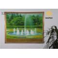 Dekorative Vinyl gedruckt Landschaft transparent Tischtuch