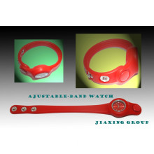 High Material and Eco-Friendly Silicone Adjustable Watch