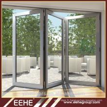 Porte pliante principale en aluminium avec grille