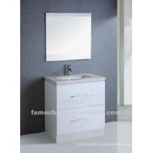 Gabinete de baño de pintura de alto brillo blanco