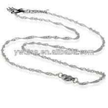 Cadena gruesa del acero inoxidable 316L fresco para el collar al por mayor de los hombres que hace la cadena