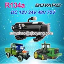 truck sleeper with R134a 24v dc rotary compressor Auto ac compressor