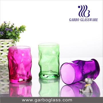 12oz Color Sprayed Glass Cup (GB062012-P)