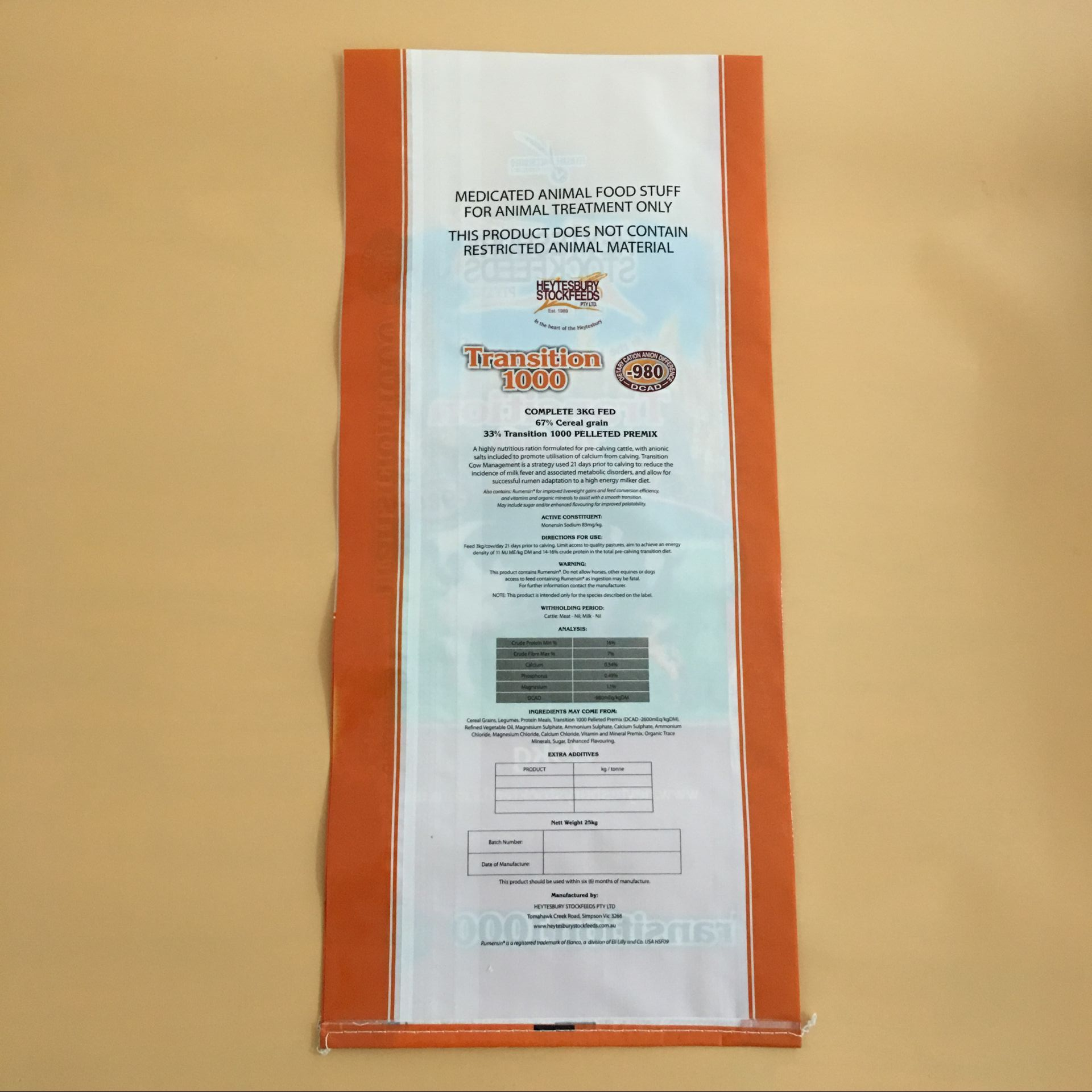 pp woven bag 50kg for feed