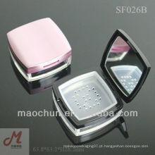 SF026B com peneira quadrada pó de pó mineral de maquiagem