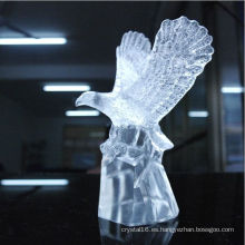 Crystal Animal Eagle Statue Decoración de oficina Crystal Figurine Craft