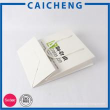 Bolsa de papel plegable plegable OEM con estampado de logo