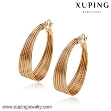 92786- Xuping New trendy gold chandelier round earrings
