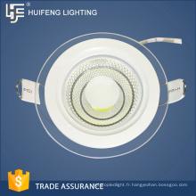 Cadre en aluminium + verre haute qualité durable ultra mince a mené la lumière du panneau 7w