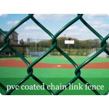 Grüne Farbe PVC beschichtete Kette Link Zäune