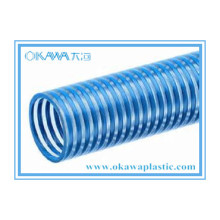Blue PVC Reinforced Suction Hose for Irrigation or Transportation