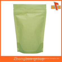 Saco de papel kraft venda quente com fecho zip para embalagens de chocolate