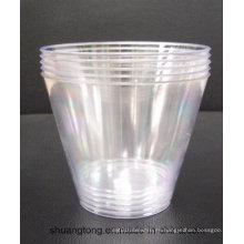 9oz Tumbler Party Essentials Fundas de plástico duro / vasos de moda antigua, claro