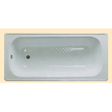Build-In Antislip Enamel Steel Bathtub