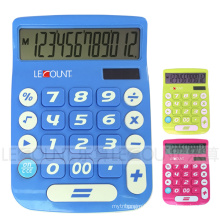 12 Digits Dual Power Desktop Calculator with Big LCD Display and Big Keys (LC201-12D)