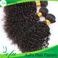Trame de cheveux humains vierges de cheveux remy bouclés de Remy de 100% non transformés