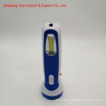 8666 New ABS Plastic COB Side Light 1W Rechargeble Torch Flashlight