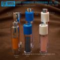 Bomba de loção giratório high-end camadas dobro pequena e delicada aplicação larga redonda frasco plástico cosmético sem ar