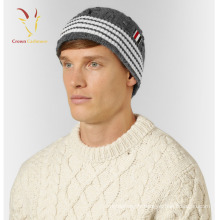 Chapeau de beanie de câble bon marché fait sur commande d'hiver des hommes de mode