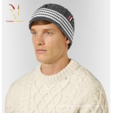 Мода Мужская Теплая Зима Изготовленный На Заказ Дешевый Кабель Beanie Шляпа