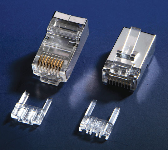 RJ45 Cat6 STP Connector with Insert