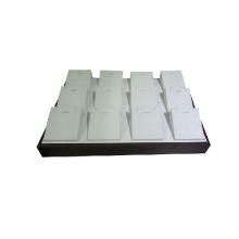12 Inlays de madera de cuero PU bandeja de visualización de la bandeja de la caja Venta al por mayor (TY-12P-WLX1)