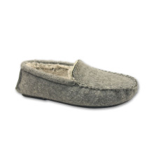 Comfortable men cheap soft felt plush indoor slipper