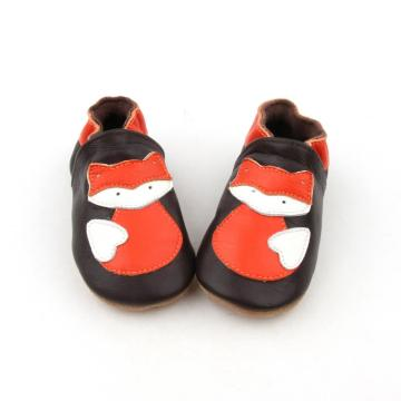 Nuevo diseño Animal Soft Leather Newborn Shoes