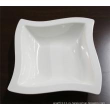 Белый квадрат имитация керамической, меламин чаша (Ср-031)