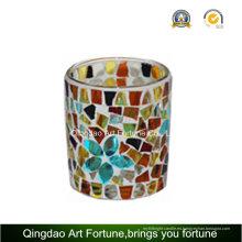 Copa votiva mosaico Tealight candelabros de cristal