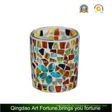 Mosaic Votive Cup Vidro Tealight Candle Holder