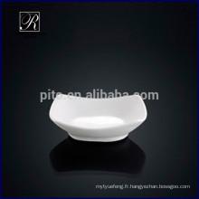 P & T chaozhou usine de porcelaine japonaise wasabi plat, soucoupes de soja