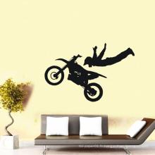 4c imprimant l'autocollant fait sur commande de vinyle de vinyle de tatoo d'art décoratif recyclable de mur de chambre à coucher