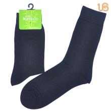 Herren Solide Black Bamboo Socke