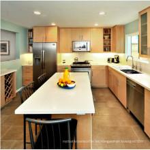 La venta caliente americana moderna diseña el gabinete de cocina de madera sólida