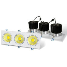 Square 3 x 6W COB LED Spotlight