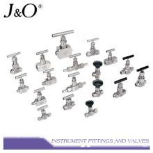 Válvula de agulha de válvula de instrumento de aço inoxidável