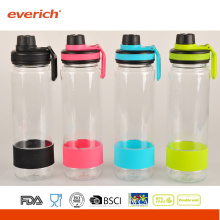 2015 Promotional Plastic Water Bottles With Silicone Bend And Sports Bottle