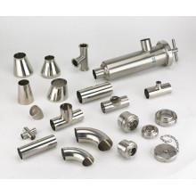 Raccord sanitaire en tuyau d'acier inoxydable 304 / 316L