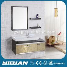 Hangzhou Hot Mirrored Vanity Stainless Steel Bathroom Cabinet