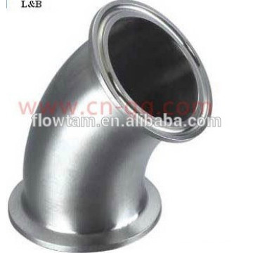 Stainless steel 45 degree clamp elbow pipe fitting