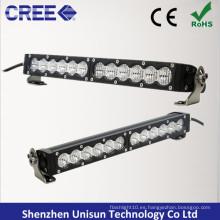 Barra de luz LED impermeable de una sola fila de 25 pulgadas 120W CREE 5W
