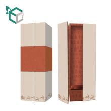 Hartpappe-Weinkasten der kundenspezifischen Pappe mit schönem high-End Fantasiepapier
