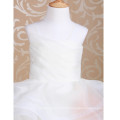 2-14 Anos Flower Girl Dress Vestido Puffy Tulle Court First Communion Elegant Girls Prom Gowns