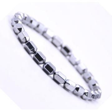 Silver Hematite 5x8MM Hexagonal Beads Bracelet