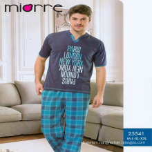 Miorre Men's Sleepwear %100 Cotton Short Sleeve Pajamas Set